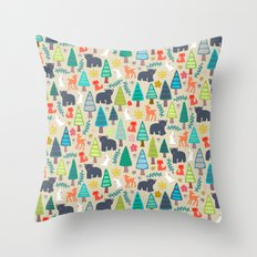 summer woodland Throw Pillow