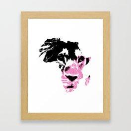 Lion Heart Africa Pink Framed Art Print