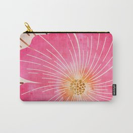 Pink Tropical Carry-All Pouch