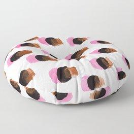 Abstract Pink Blots pattern Floor Pillow