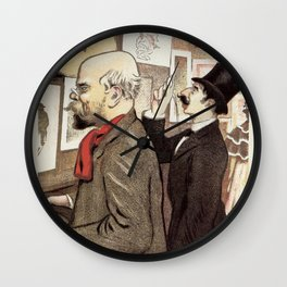 December 1894 7th Salon des 100 Art Expo Paris France Wall Clock