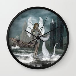 Beautiful fairy in the dreamworld Wall Clock