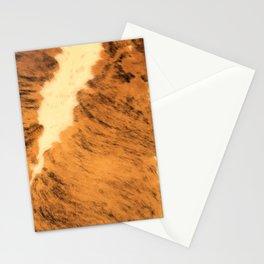 Burnt Orange Texas Longhorn Animal Print Leather Pattern Stationery Cards