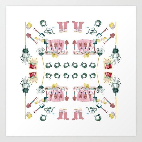 A Garden Plan Art Print