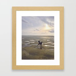 Salty Dog Framed Art Print