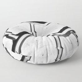 Black rubber tire background Floor Pillow