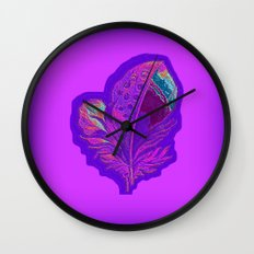 Lee's Purple Feather Wall Clock