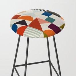 mid century retro shapes geometric Bar Stool