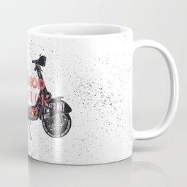 Vespa, mods, calligraphy, graphic Coffee Mug