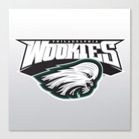 nfl Canvas Prints featuring Philadelphia Wookies - NFL by Steven Klock