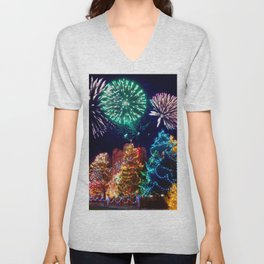 Christmas lights Unisex V-Neck