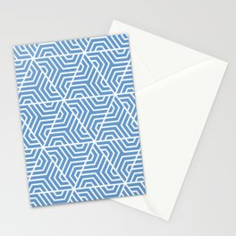Livid - turquoise - Geometric Seamless Triangles Pattern Stationery Cards