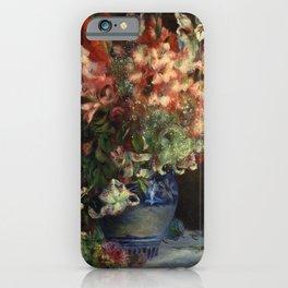 Pierre Auguste Renoir Gladiolas in a Vase 1875 iPhone Case