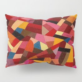 Komposition 1940 Mid Century Modern Abstract Geometric Colorful Pattern Painting Otto Freundlich Pillow Sham