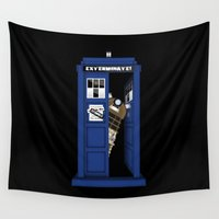 dalek Wall Tapestries featuring Dr. Dalek by AWOwens