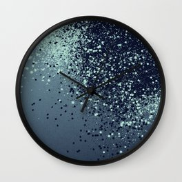 Sparkling Blue Summer Night Lady Glitter #1 #shiny #decor #art #society6 Wall Clock