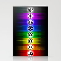 dc comics Stationery Cards featuring All Lantern Corps from DC Comics by Sberla