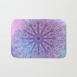 big paisley mandala in light purple Bath Mat
