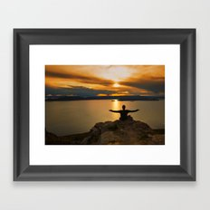With Arms Wide Open Framed Art Print