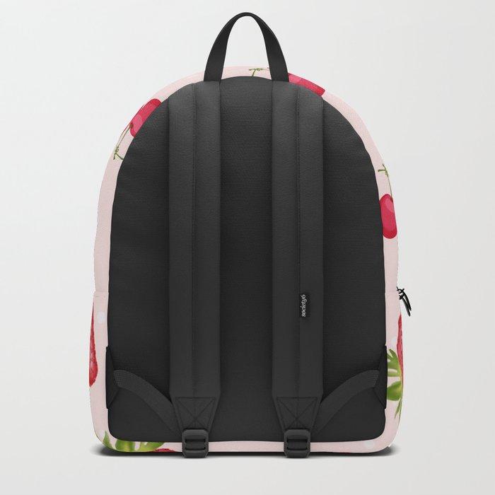 Strawberries Cherries Fiesta Pattern Backpack