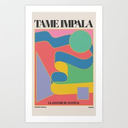 Ta-me Impala at Glastonbury gig poster Art Print