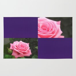 Pink Roses in Anzures 4 Blank Q9F0 Rug