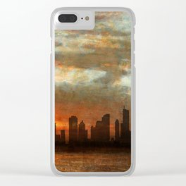 Chicago Skyline 17 Clear iPhone Case