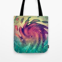 underwater Tote Bags featuring Underwater by GypsYonic