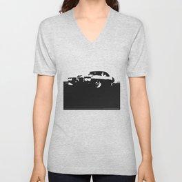 Pontiac Firebird, Black on Cream Unisex V-Neck