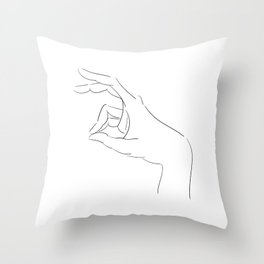 The Rabbit's Shadow Throw Pillow