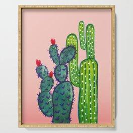 Watercolor Cactus Serving Tray