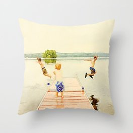 Boys of Summer Throw Pillow