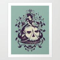 death Art Prints featuring Mrs. Death by Enkel Dika