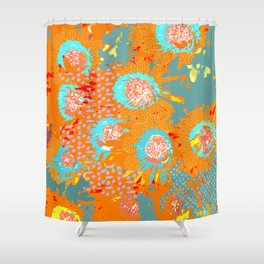 Floral popart Shower Curtain