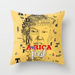 Donald Trump America first Throw Pillow