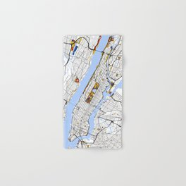 New York City Map United States Mondrian color Hand & Bath Towel