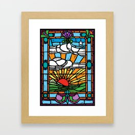 Sunrise Stained Glass Window Framed Art Print