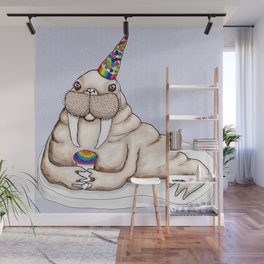 I am the walrus...with a party hat and snow cone...goo goo g' joob! Wall Mural