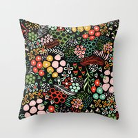 Winter Bouquet Throw Pillow