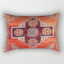 Obruk Konya Antique Turkish Long Rug Print Rectangular Pillow