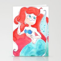 ariel Stationery Cards featuring Ariel by Elise Lesueur