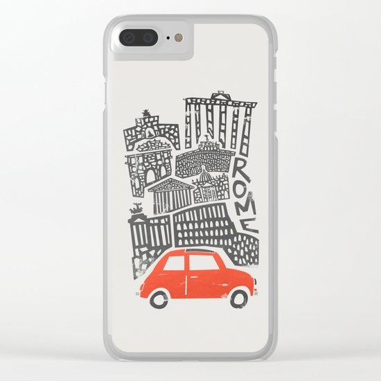 Rome Cityscape Clear iPhone Case