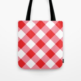Gingham - Red Tote Bag