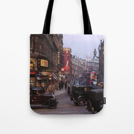 Piccadilly London Kodachrome Tote Bag
