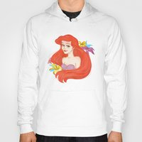 ariel Hoodies featuring Ariel by Rosita Maria