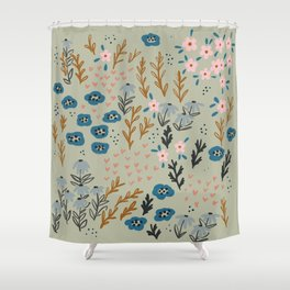 floral meditation 02 Shower Curtain