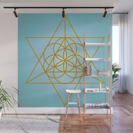 Golden Goodness Triangle Dance Sacred Geometry Abstract Design Wall Mural