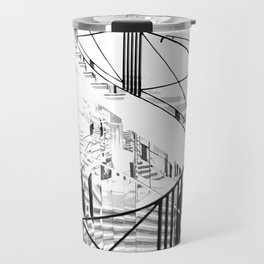 iconic fashion stairs black and white Travel Mug