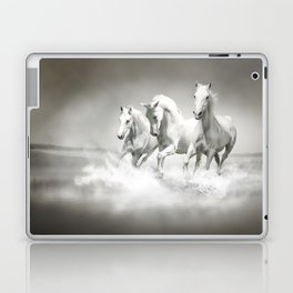 Wild White Horses Laptop & iPad Skin