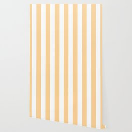 Caramel pink - solid color - white vertical lines pattern Wallpaper